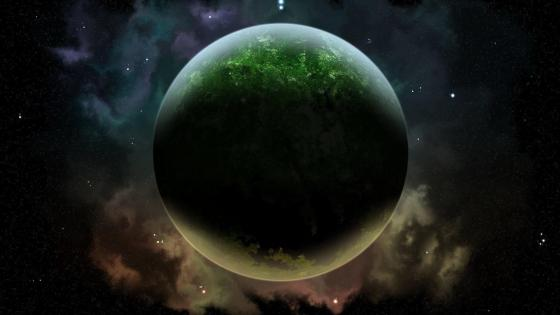 Planet in the space - Space art wallpaper