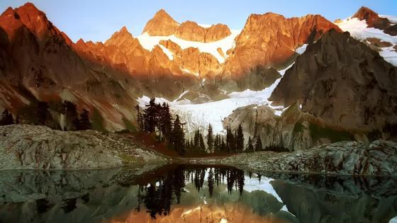 Mount Shuksan in North Cascades National Park, Washington  wallpaper