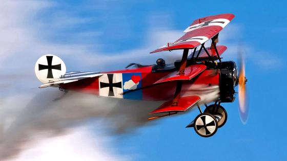 Fokker DR-1 Triplane replica wallpaper