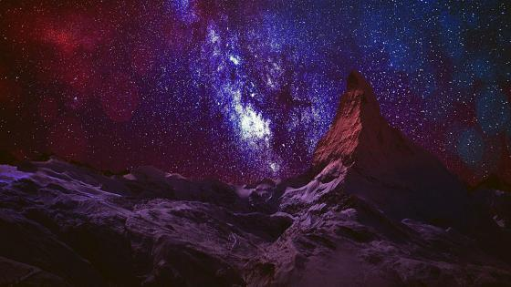Milky Way over Matterhorn - Switzerland wallpaper