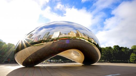 Cloud Gate in the Millennium Park - Chichago wallpaper