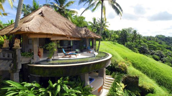 Panoramic view in Ubud, Bali wallpaper
