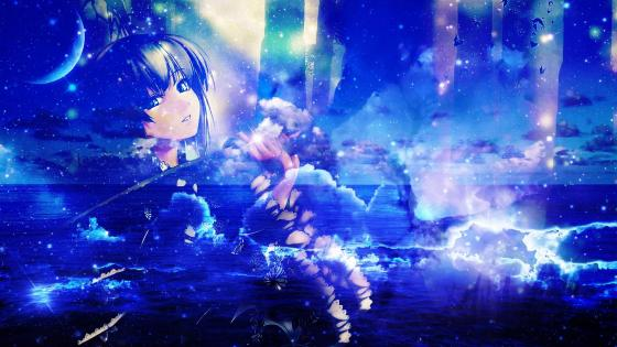 Dream world - anime fantasy art wallpaper