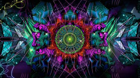 Psychedelic fractal art wallpaper