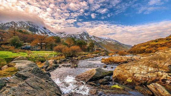 River Ogwen in Snowdonia National Park - Wales wallpaper