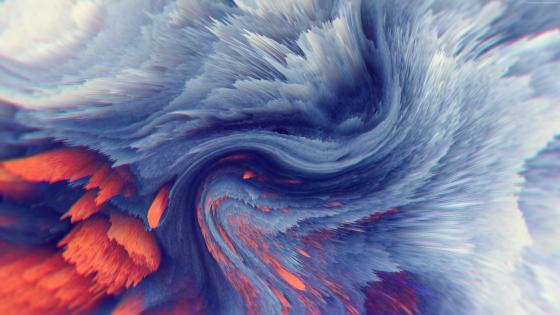Abstract magnetic waves - Digital art wallpaper