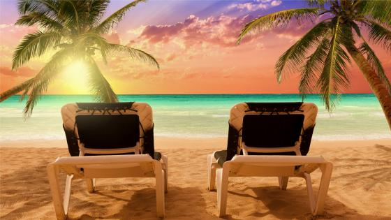 Bavaro beach sunset - Dominican Republic wallpaper