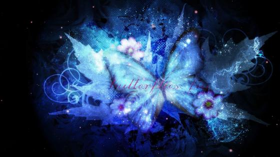 Butterfly - Digital art wallpaper