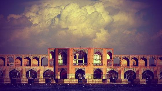 Khaju Bridge - Oldest bridge of Isfahan (Iran) wallpaper