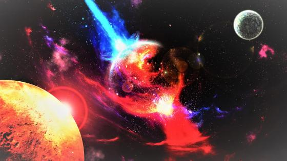 Explosion in the universe - Space art wallpaper
