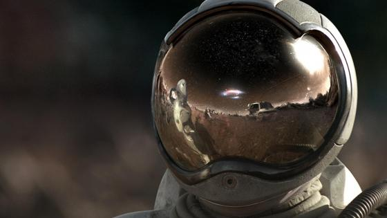 Astronaut in space helmet ‍ wallpaper