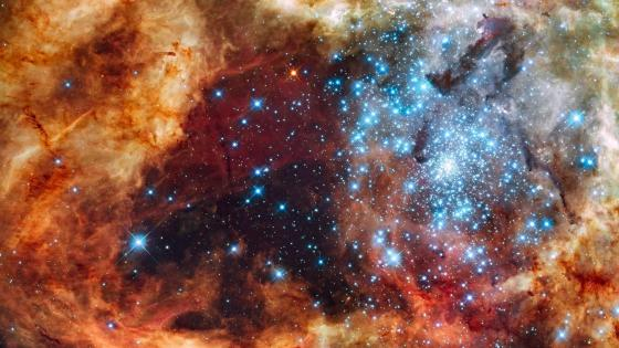 R136 stellar group - Hubble space telescope wallpaper