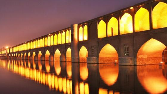 Siosepol Bridge in the evening, Isfahan wallpaper