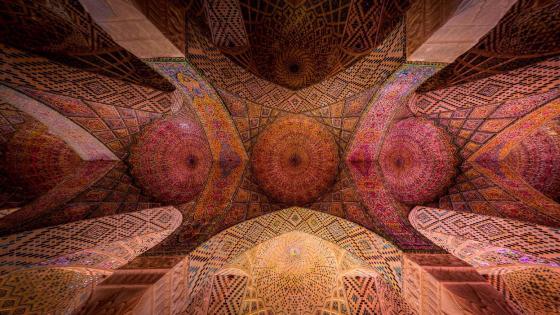Ceiling of Nasir al-Mulk Mosque wallpaper