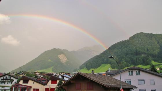 Mountain range rainbow wallpaper