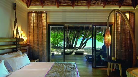 Luxury interior in Maldives wallpaper