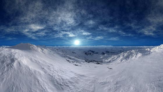Snowy mountain range - Digital art wallpaper