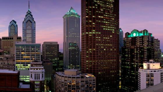 Philadelphia evening cityscape - Pennsylvania, United States wallpaper