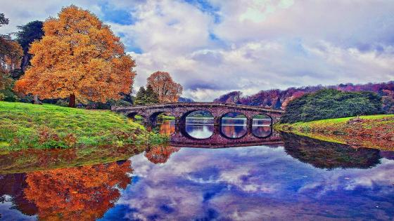 Palladian Bridge - Stourhead Gardens, United Kingdom wallpaper