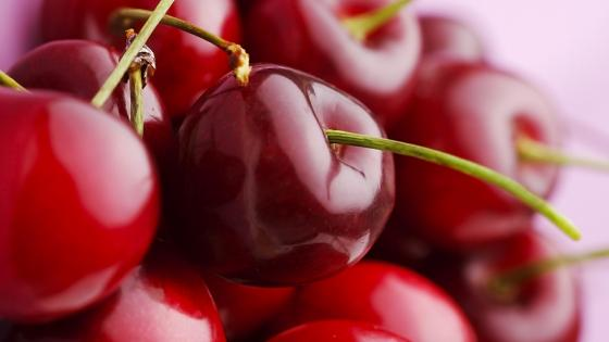 Sweet red cherry wallpaper