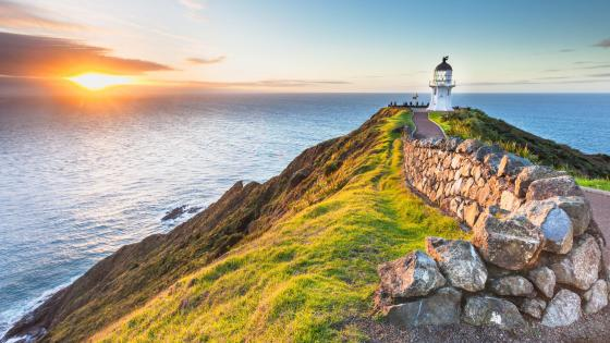 Cape Reinga Lighthouse - New Zealand wallpaper