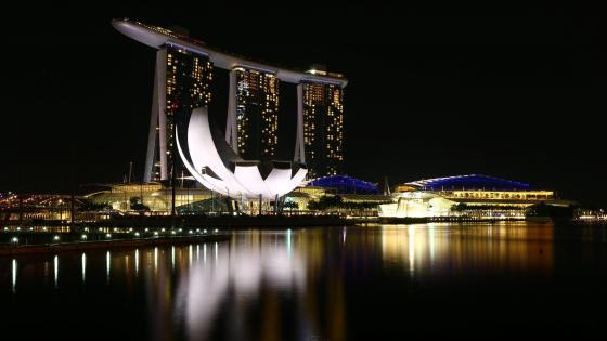 Marina Bay at night, Singapore wallpaper