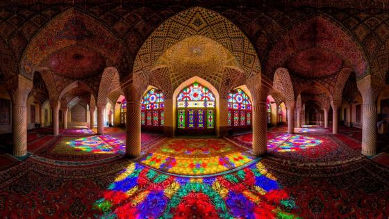 Nasir Al-Mulk Mosque (Pink Mosque), Shiraz, Iran wallpaper