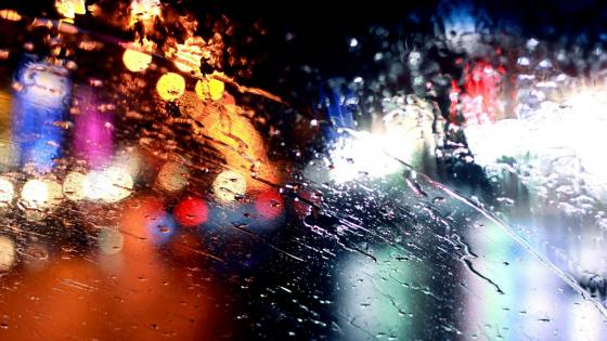 Rainy windshield wallpaper