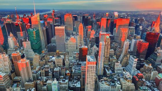 New York City from Empire State Building wallpaper