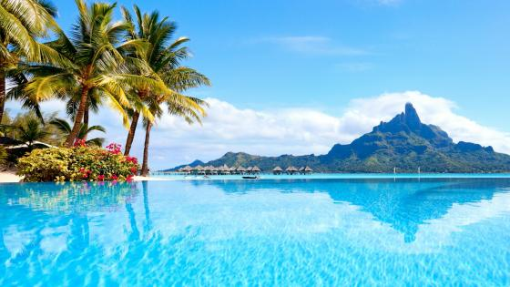 Mount Otemanu view,  Bora Bora, French Polynesia wallpaper