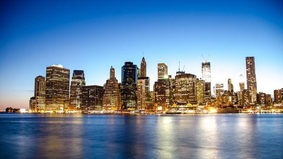New York City view at Brooklyn Bridge Park wallpaper