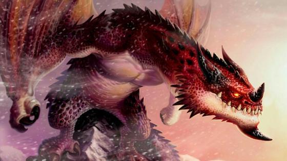 Red dragon fantasy art wallpaper