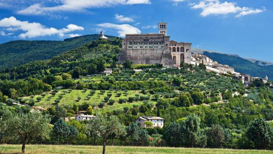 Basilica of Saint Francis of Assisi - Assisi, Italy wallpaper