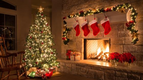 Beautiful christmas decoration wallpaper