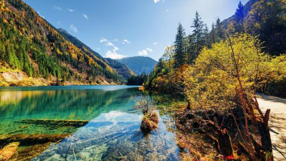 Jiuzhai Valley National Park - Sichuan Province, China wallpaper
