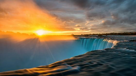 Sunset at Niagara Falls wallpaper