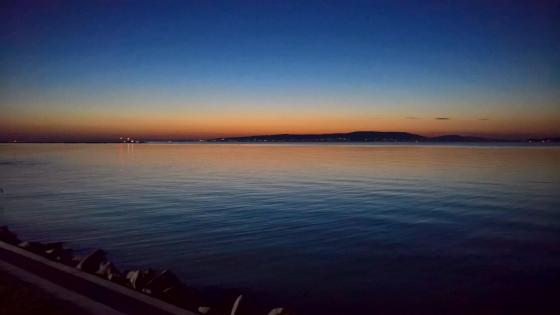 Lake Balaton at sunset wallpaper