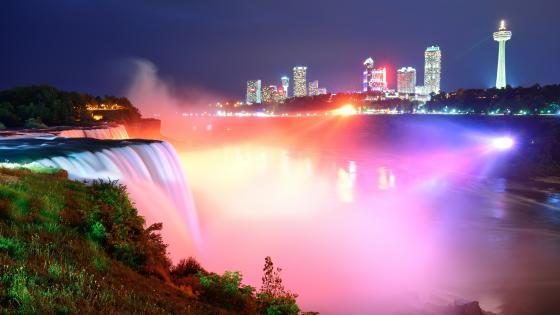 Niagara Falls and Ontario view wallpaper