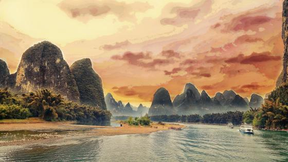 Li River - China wallpaper