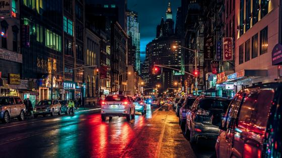 Chinatown New York City by night wallpaper