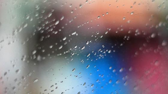 Droplest on the glass wallpaper