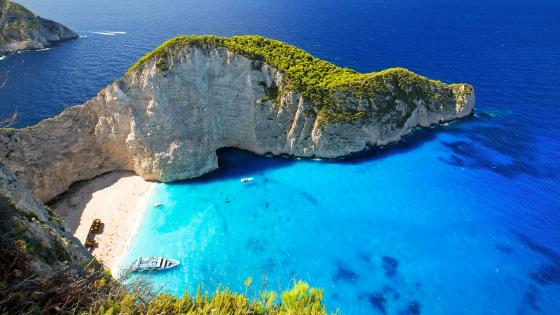 Navagio Bay On Zakynthos Island wallpaper