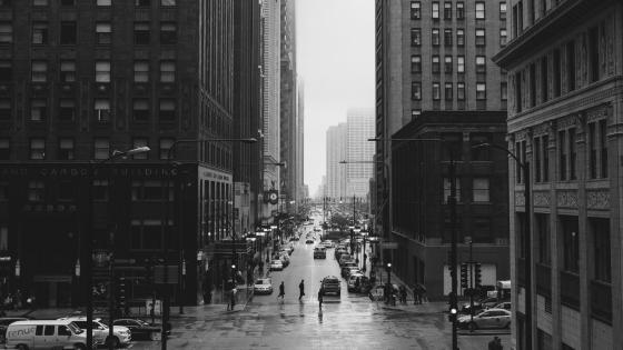 Streets of Chicago- Monochrome photography  wallpaper