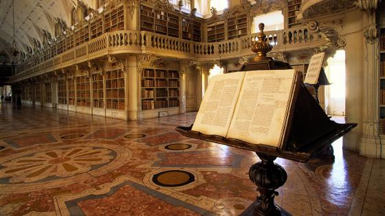 Palace of Mafra Library - Portugal wallpaper