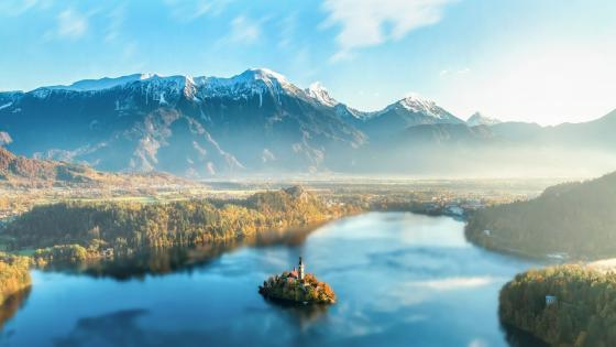 Bled Island - Incredible beauty of Slovenia wallpaper