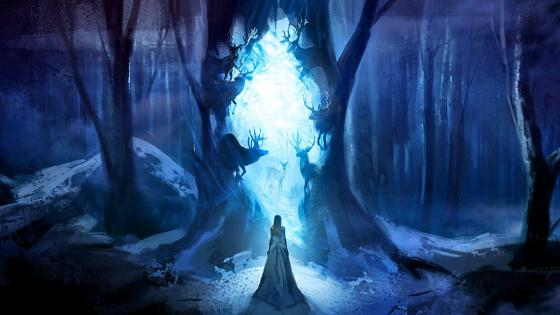 Magic forest - Fantasy art wallpaper