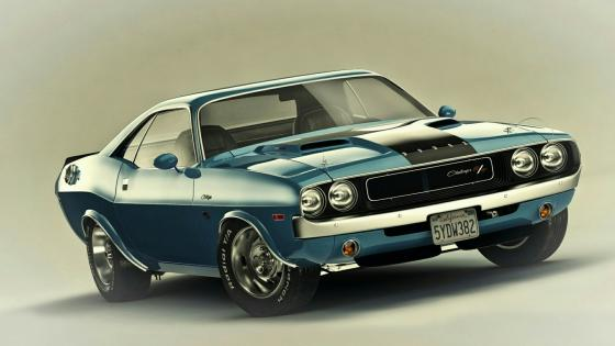 1970 Dodge Challenger R/T Hot American Car wallpaper