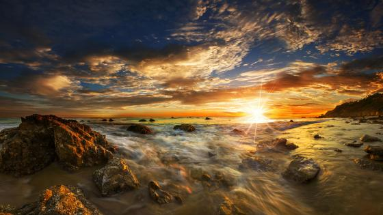 El Matador State Beach at sunset - Malibu, California  wallpaper