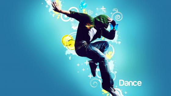 Solo dance performance graphics wallpaper