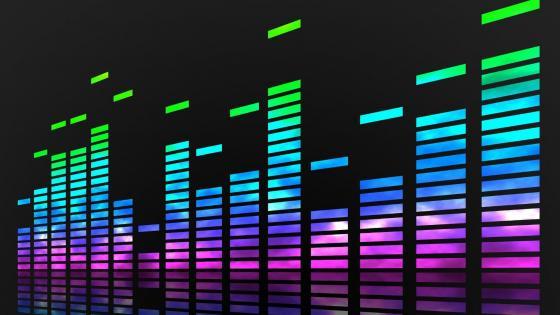 Neon music equalizer  wallpaper